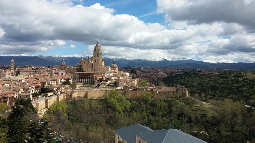 vista segovia torre alcázar