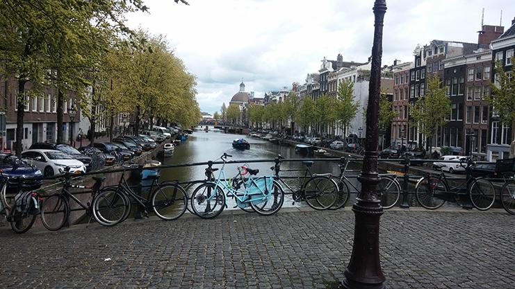 canais e bicicletas - amsterdam