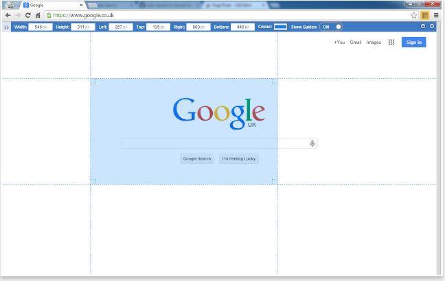 page-ruler - medir tamanho da imagem